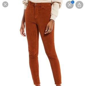 High waist free people corduroy pants